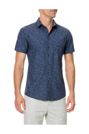Rodd & Gunn - Douglas Corner Short Sleeve Sports Fit Shirt - Navy