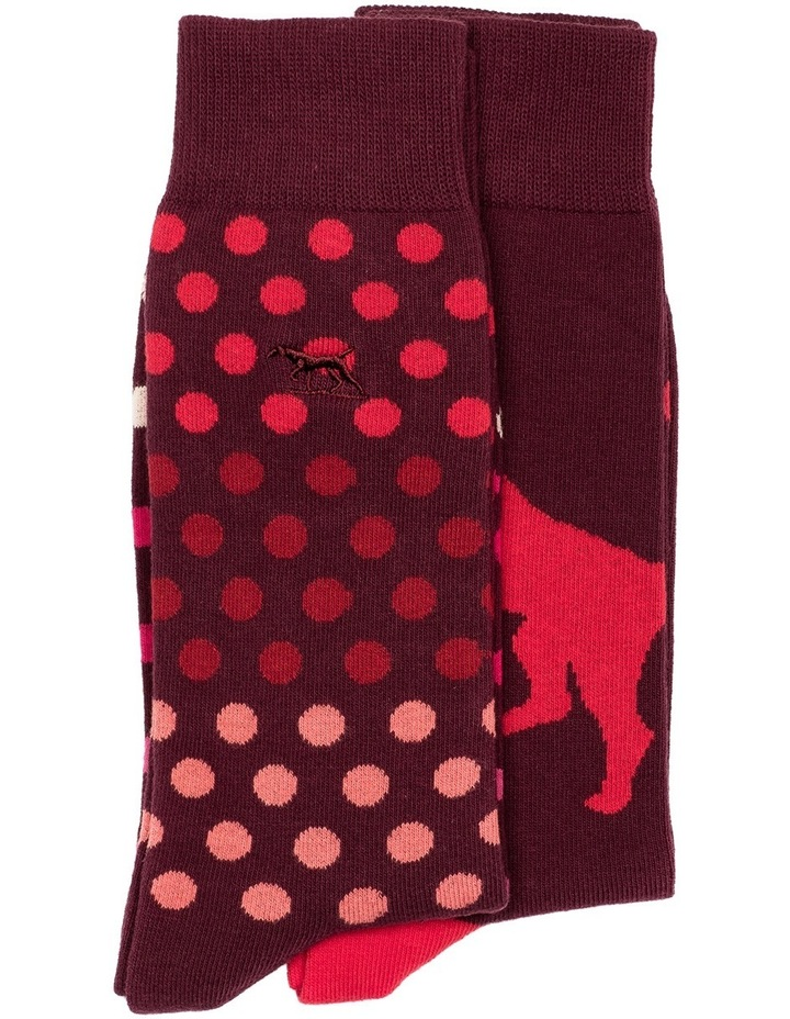 Findlay Road Two Pack Sock - Maroon image 1