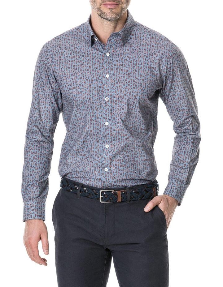 Armour Long Sleeve Sports Fit Shirt - Bluestone image 1