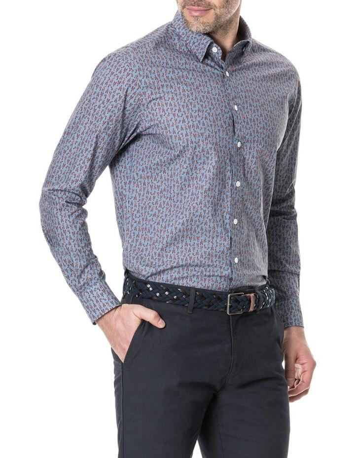 Armour Long Sleeve Sports Fit Shirt - Bluestone image 2