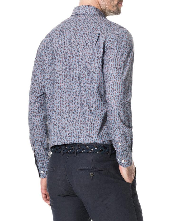 Armour Long Sleeve Sports Fit Shirt - Bluestone image 3