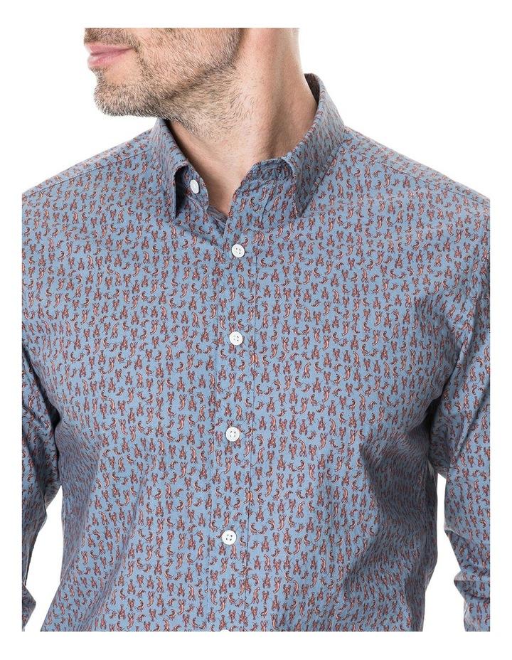 Armour Long Sleeve Sports Fit Shirt - Bluestone image 4