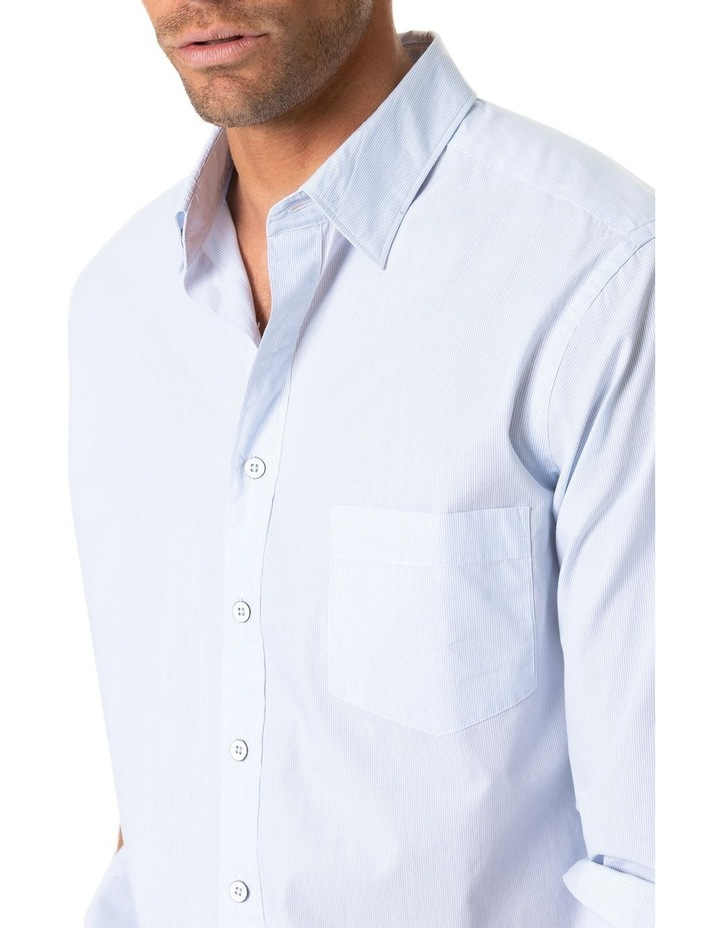 Four Peaks Long Sleeve Sports Fit Shirt - Sky image 5