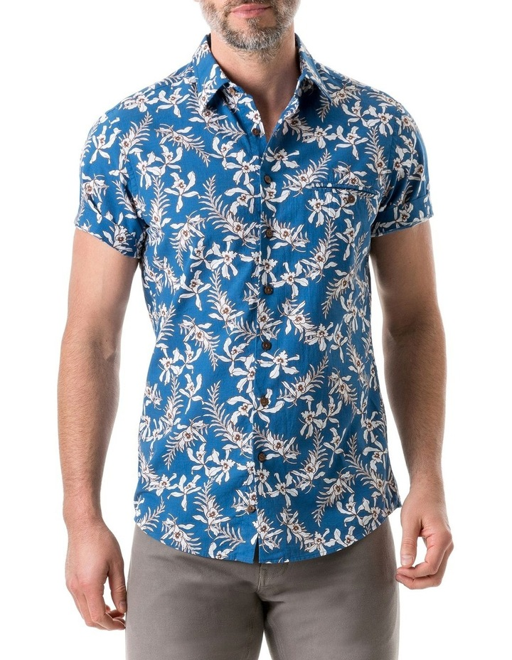 Four Rivers Short Sleeve Sports Fit Shirt - Lagoon image 1