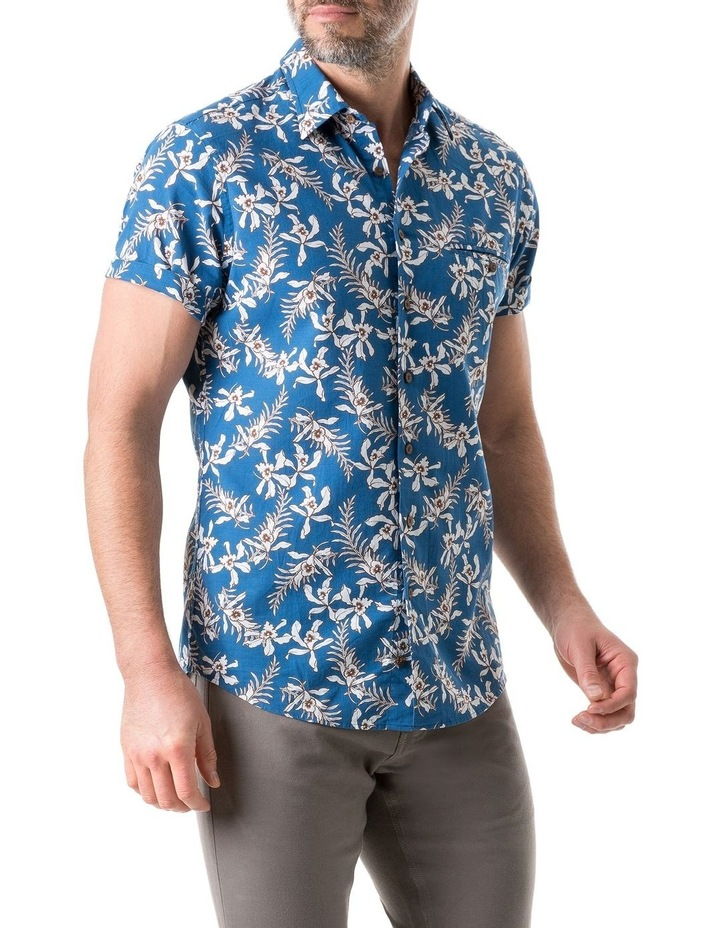 Four Rivers Short Sleeve Sports Fit Shirt - Lagoon image 2