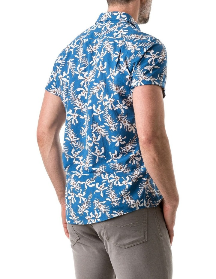 Four Rivers Short Sleeve Sports Fit Shirt - Lagoon image 3