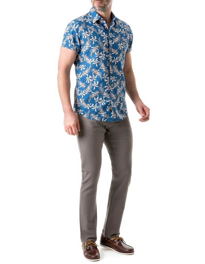 Four Rivers Short Sleeve Sports Fit Shirt - Lagoon image 4
