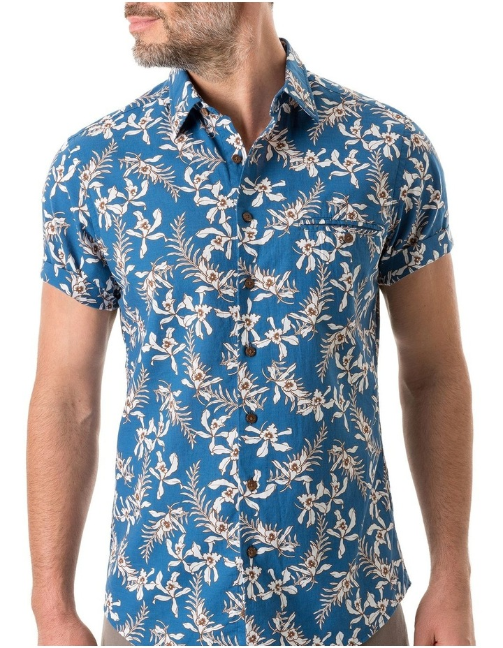 Four Rivers Short Sleeve Sports Fit Shirt - Lagoon image 5