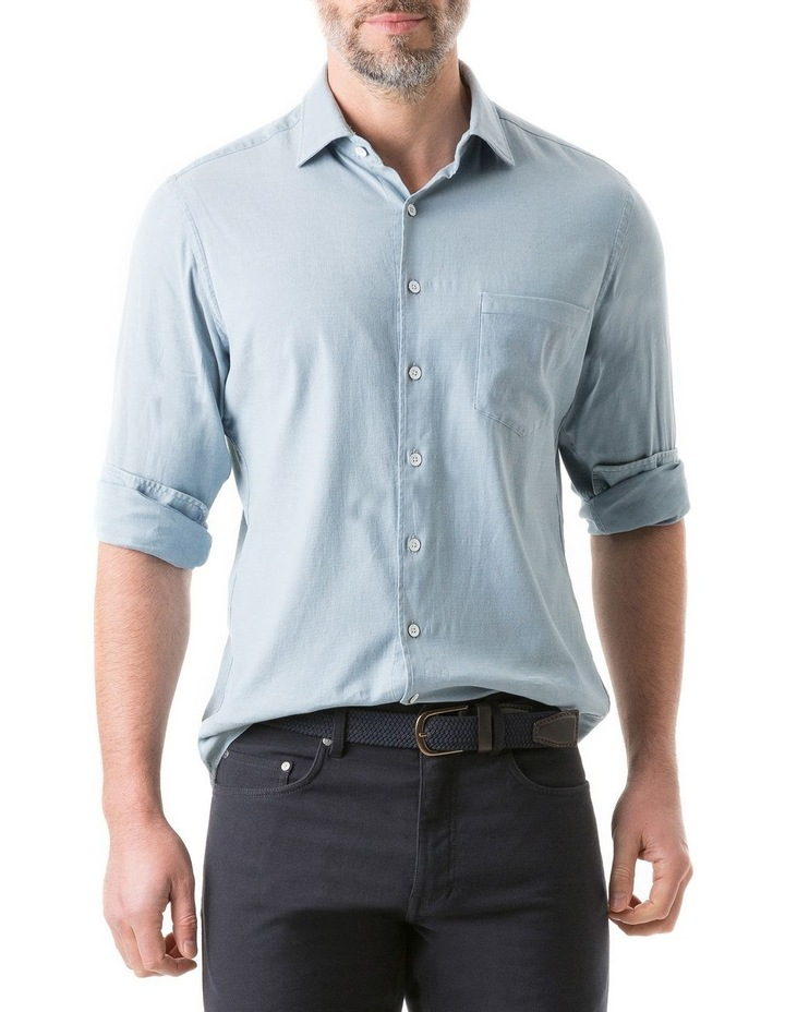 Scarborough Long Sleeve Sports Fit Shirt - Chambray image 1