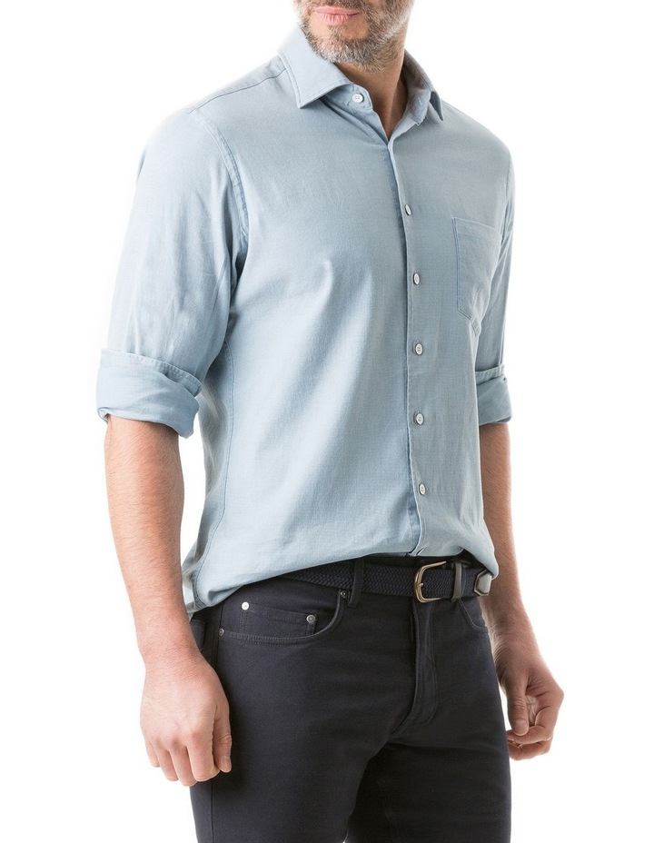 Scarborough Long Sleeve Sports Fit Shirt - Chambray image 2
