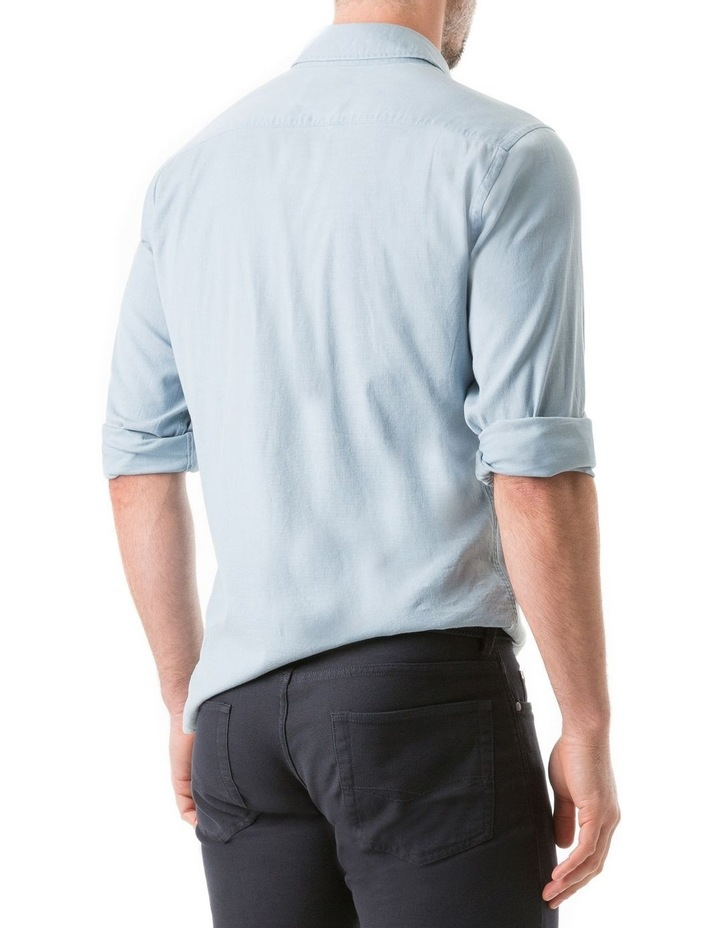 Scarborough Long Sleeve Sports Fit Shirt - Chambray image 3