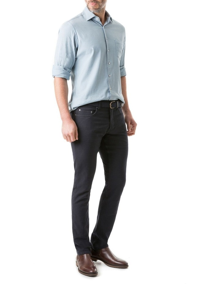Scarborough Long Sleeve Sports Fit Shirt - Chambray image 4