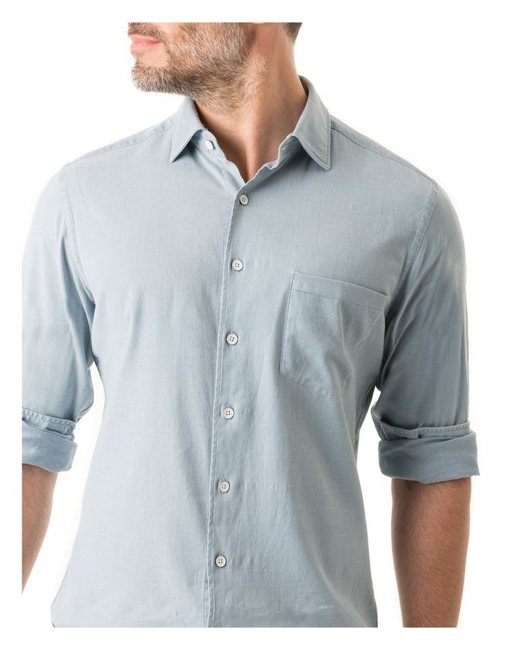 Scarborough Long Sleeve Sports Fit Shirt - Chambray image 5