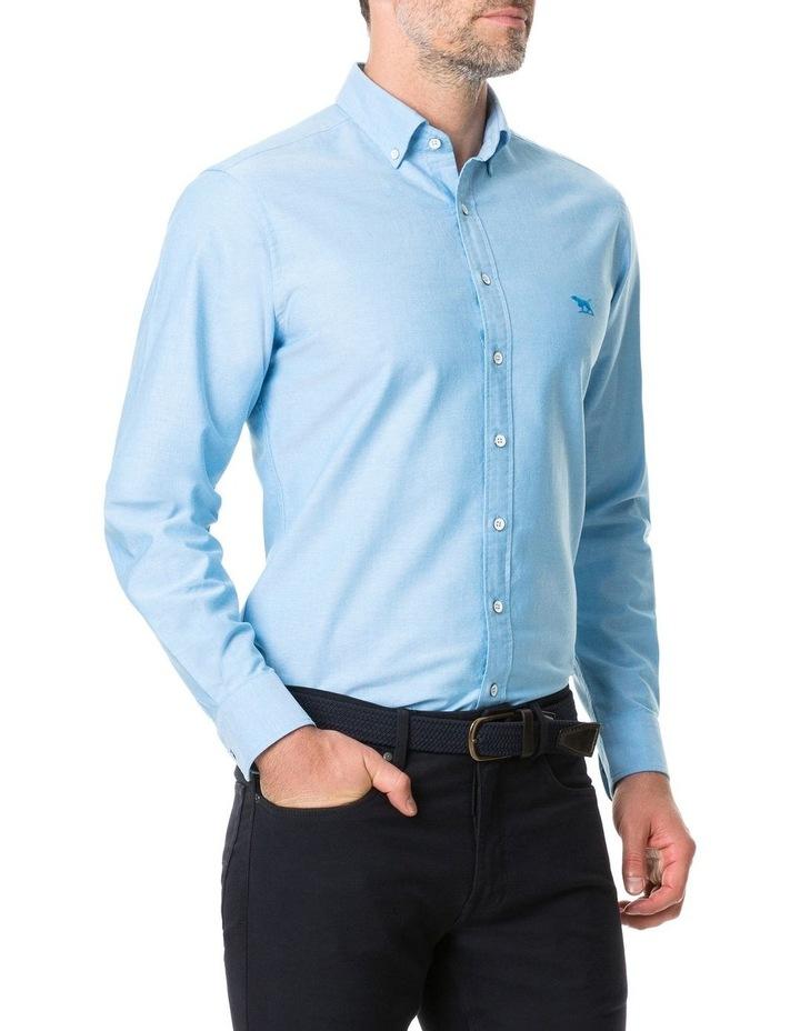 Vincent Street Long Sleeve Sports Fit Shirt - Teal image 2