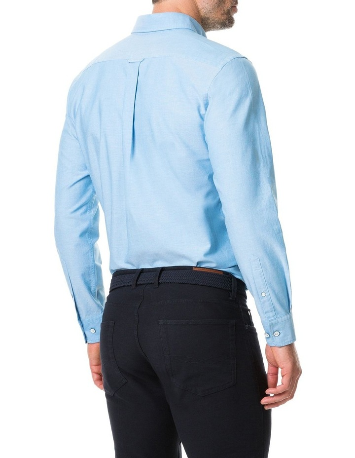 Vincent Street Long Sleeve Sports Fit Shirt - Teal image 3