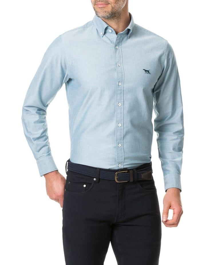 Vincent Street Long Sleeve Sports Fit Shirt - Sage image 1