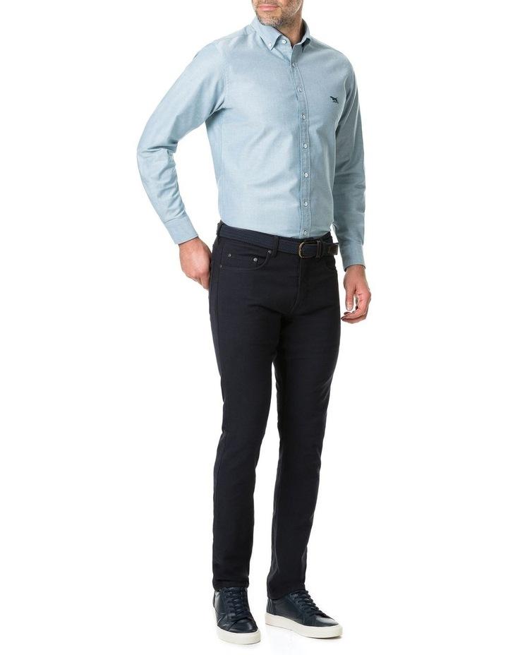 Vincent Street Long Sleeve Sports Fit Shirt - Sage image 3
