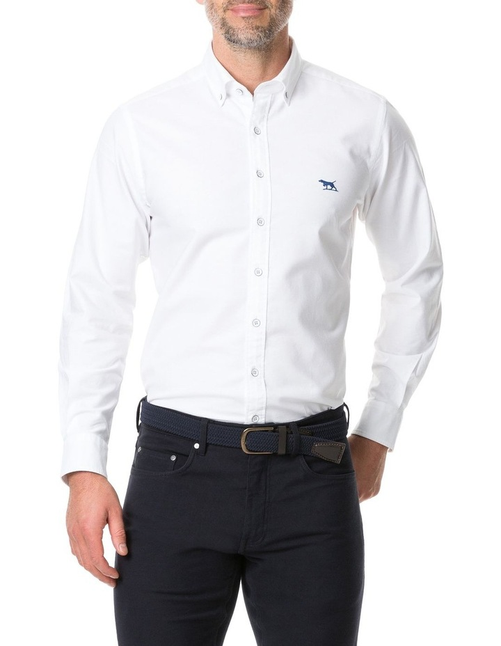 Vincent Street Long Sleeve Sports Fit Shirt - White image 1