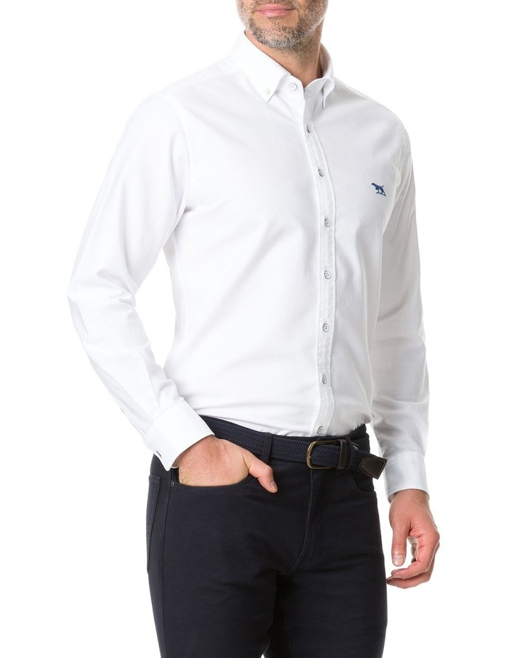 Vincent Street Long Sleeve Sports Fit Shirt - White image 2