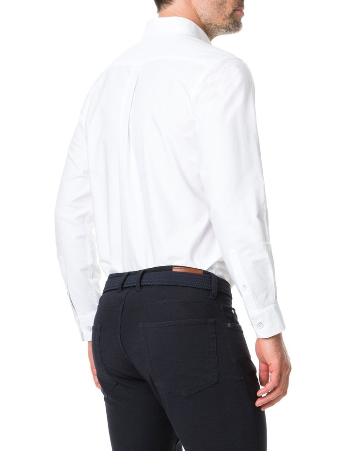 Vincent Street Long Sleeve Sports Fit Shirt - White image 3