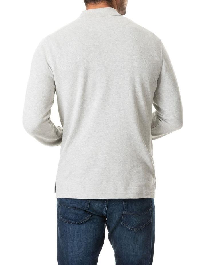 Long Sleeve Gunn Polo - Stone image 3