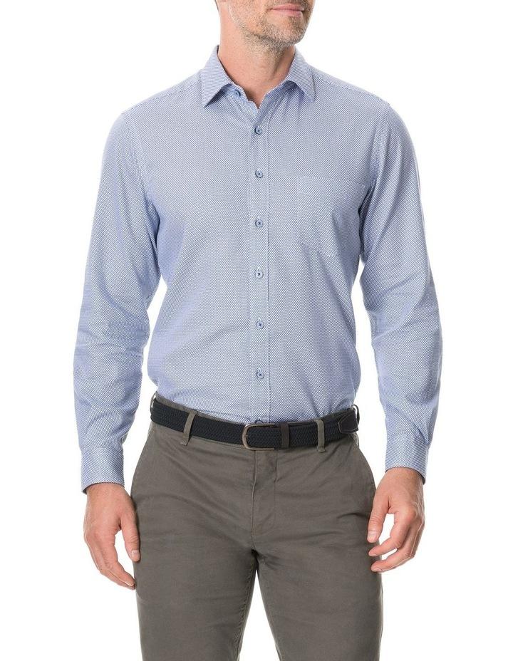 Livingstone Long Sleeve Sports Fit Shirt - River image 1