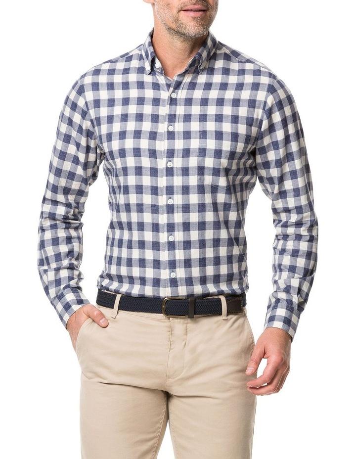 Rodd & Gunn Barryville Long Sleeve Sports Fit Shirt - River image 1