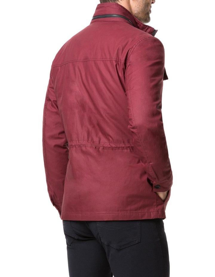 Rodd & Gunn Leithfield 4 Oz Staywax Jacket - Burgundy image 3