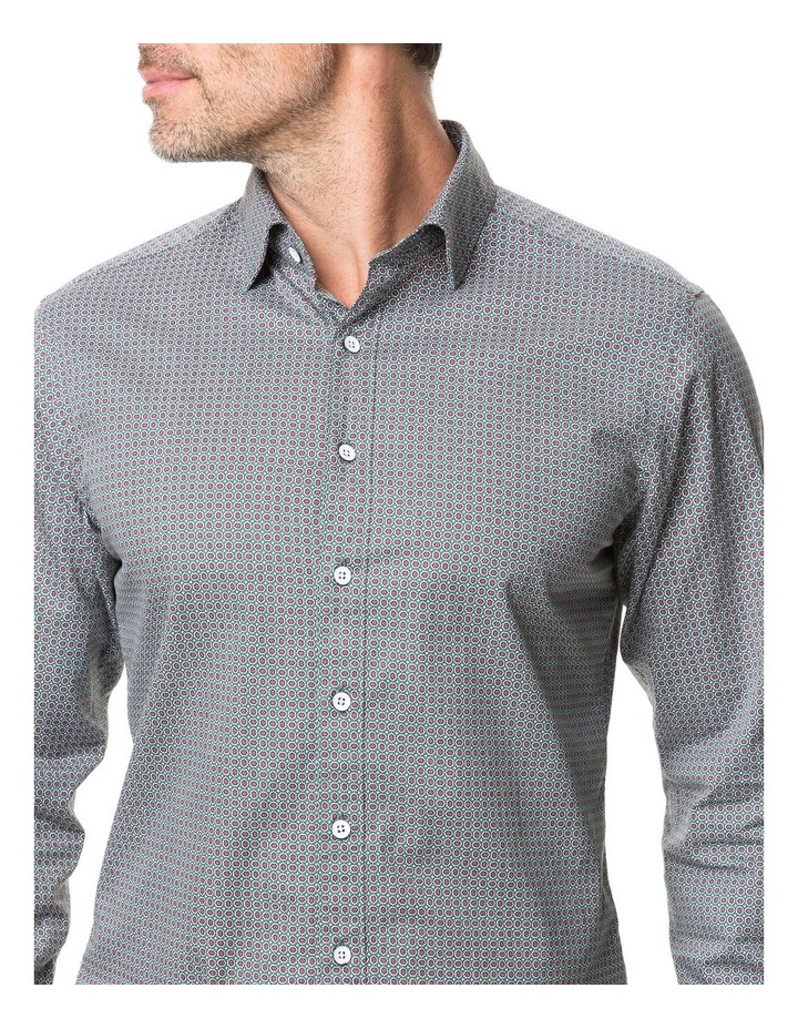 Rodd & Gunn Donnelly Track Long Sleeve Sports Fit Shirt - Thyme image 4