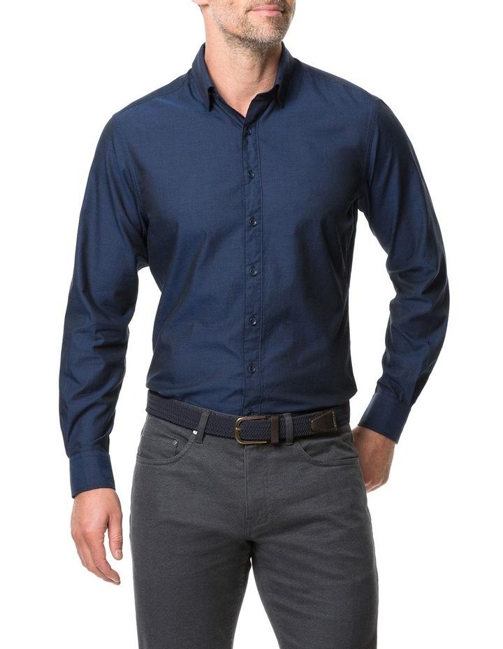 Rodd & Gunn Glenpark Long Sleeve Sports Fit Shirt - Midnight image 1