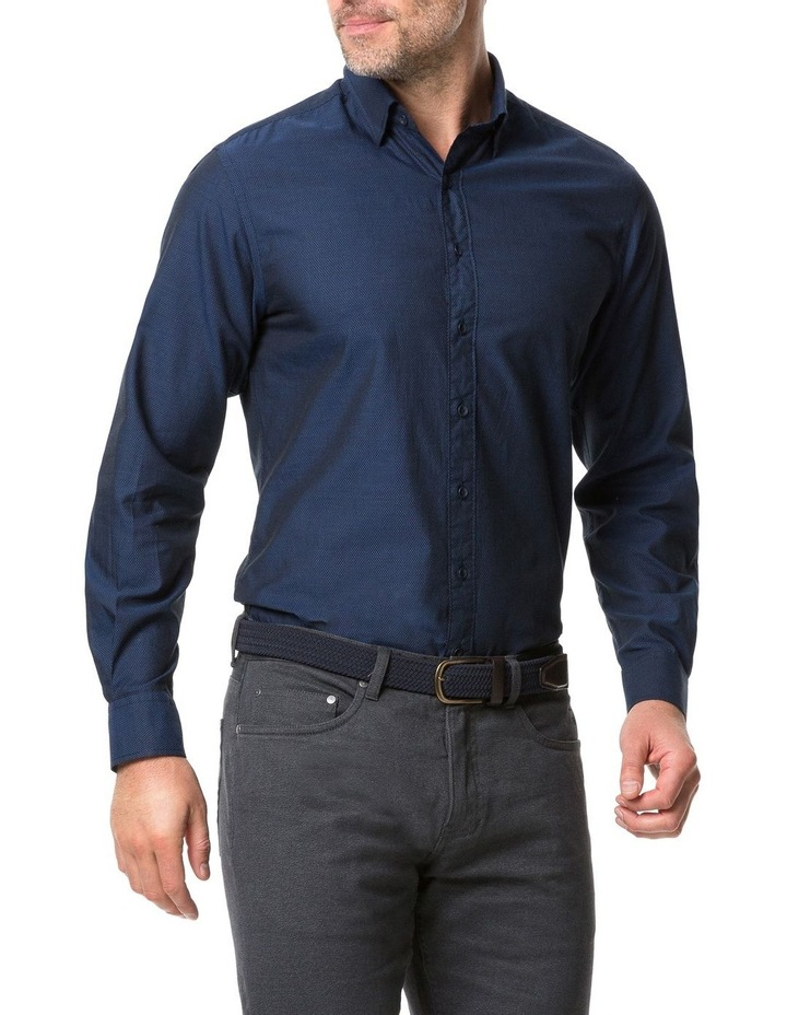 Rodd & Gunn Glenpark Long Sleeve Sports Fit Shirt - Midnight image 2