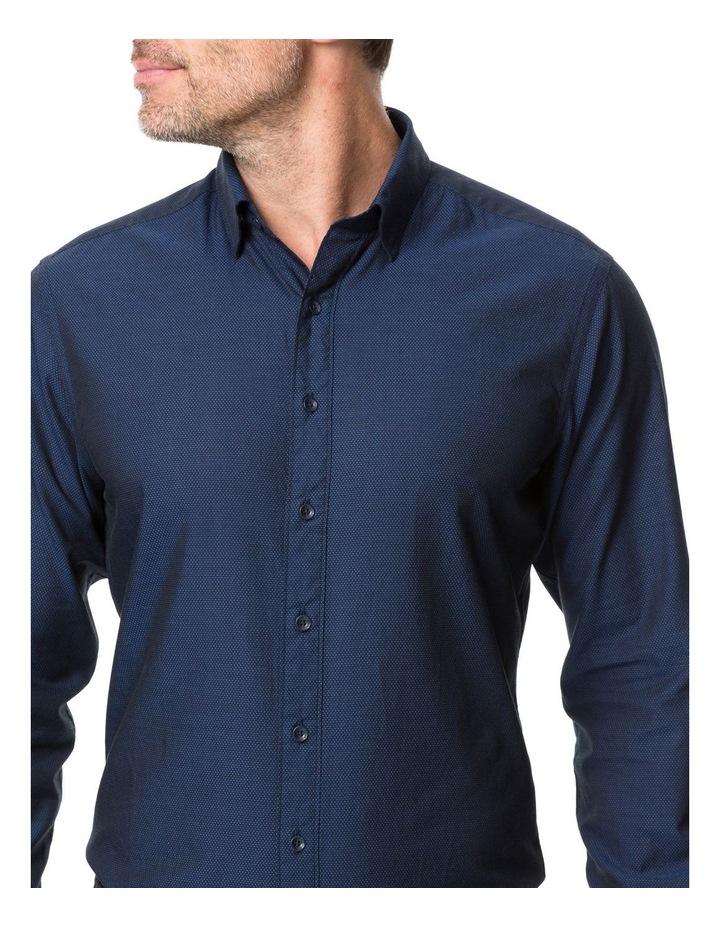 Rodd & Gunn Glenpark Long Sleeve Sports Fit Shirt - Midnight image 4