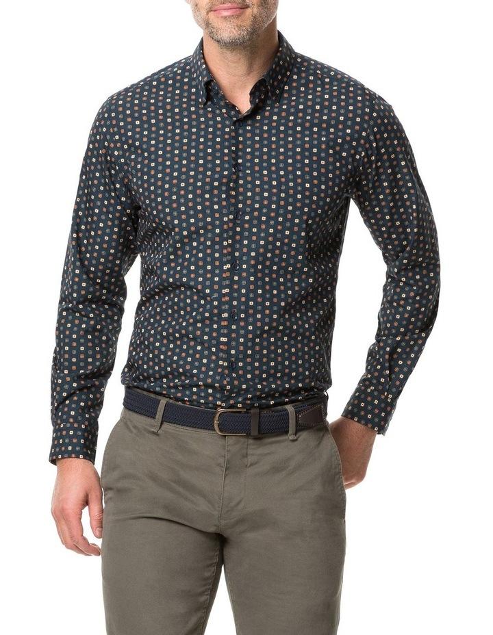 Rodd & Gunn Freyberg Long Sleeve Sports Fit Shirt - Navy image 1