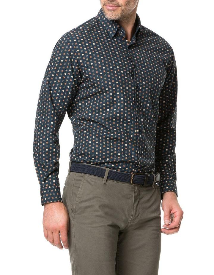 Rodd & Gunn Freyberg Long Sleeve Sports Fit Shirt - Navy image 2