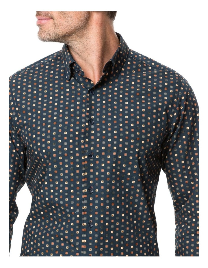 Rodd & Gunn Freyberg Long Sleeve Sports Fit Shirt - Navy image 4
