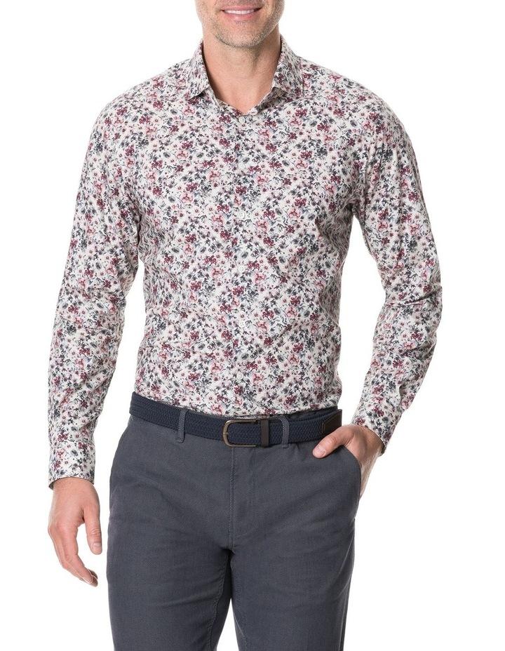 Allenton Long Sleeve Sports Fit Shirt - Ivory image 1