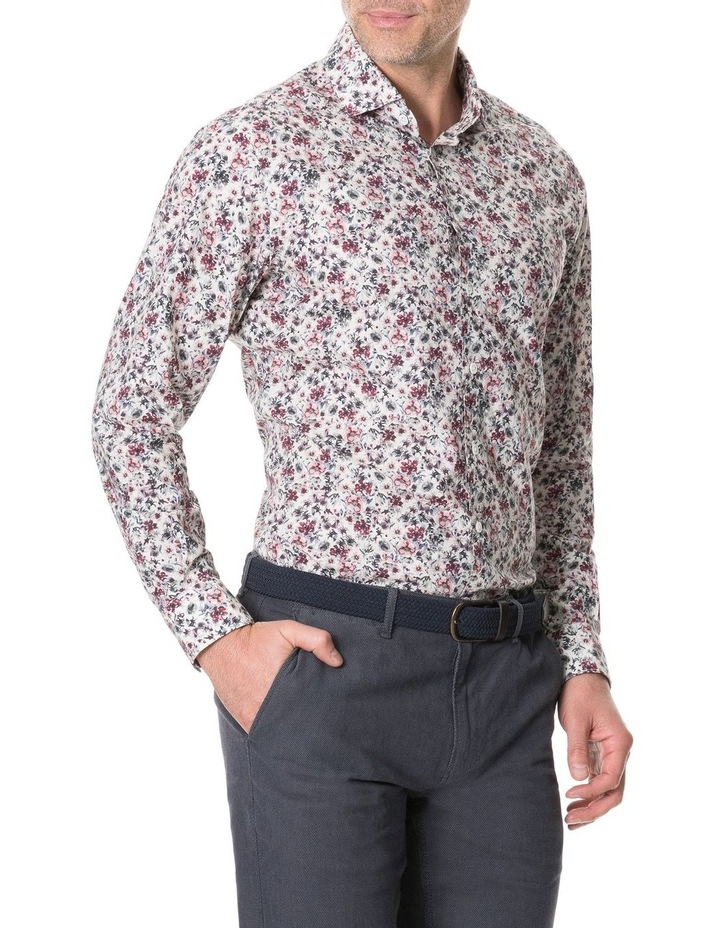Allenton Long Sleeve Sports Fit Shirt - Ivory image 2