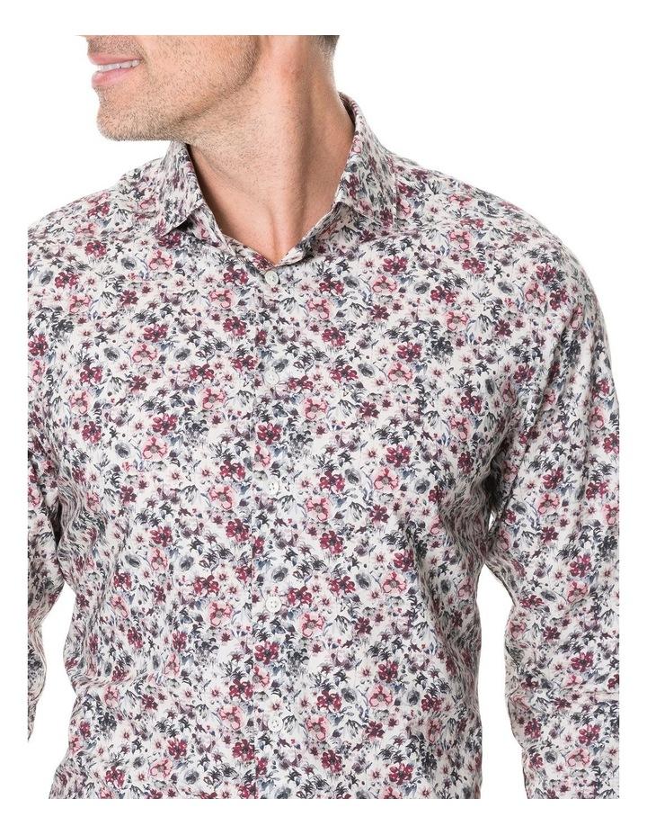Allenton Long Sleeve Sports Fit Shirt - Ivory image 4
