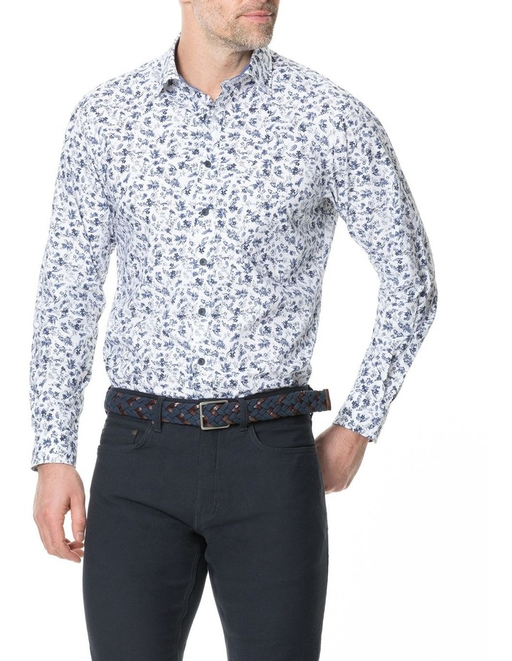 Sandstone Long Sleeve Sports Fit Shirt - Snow image 1