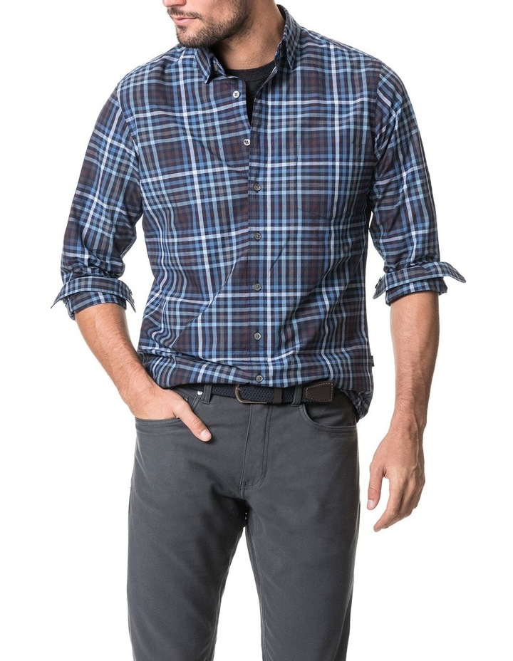 Cherokee Long Sleeve Sports Fit Shirt - Denim image 1