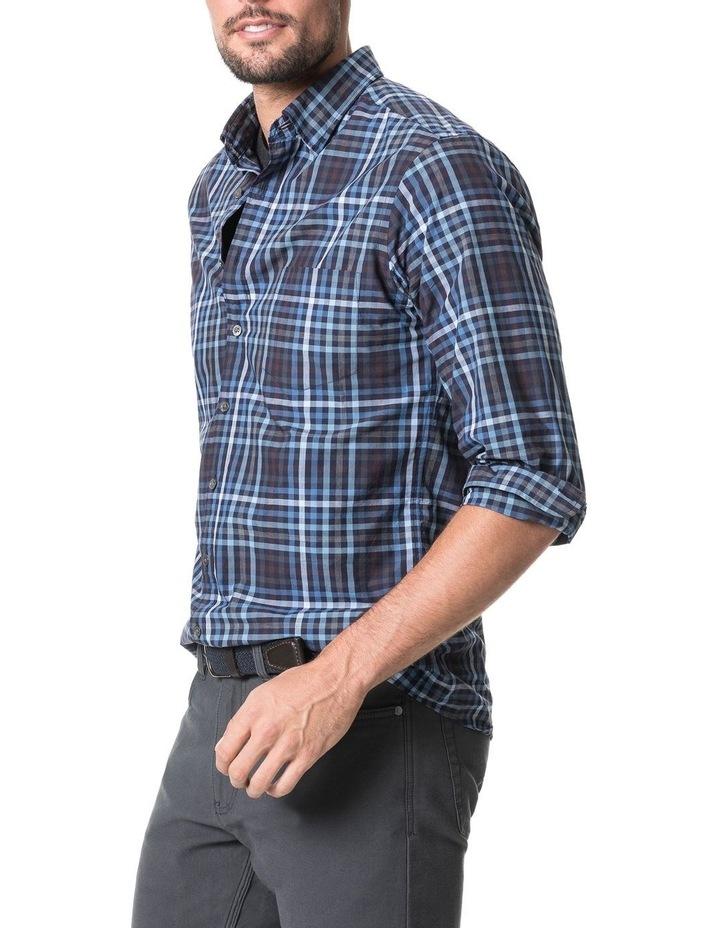 Cherokee Long Sleeve Sports Fit Shirt - Denim image 2