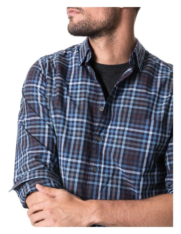 Cherokee Long Sleeve Sports Fit Shirt - Denim image 4