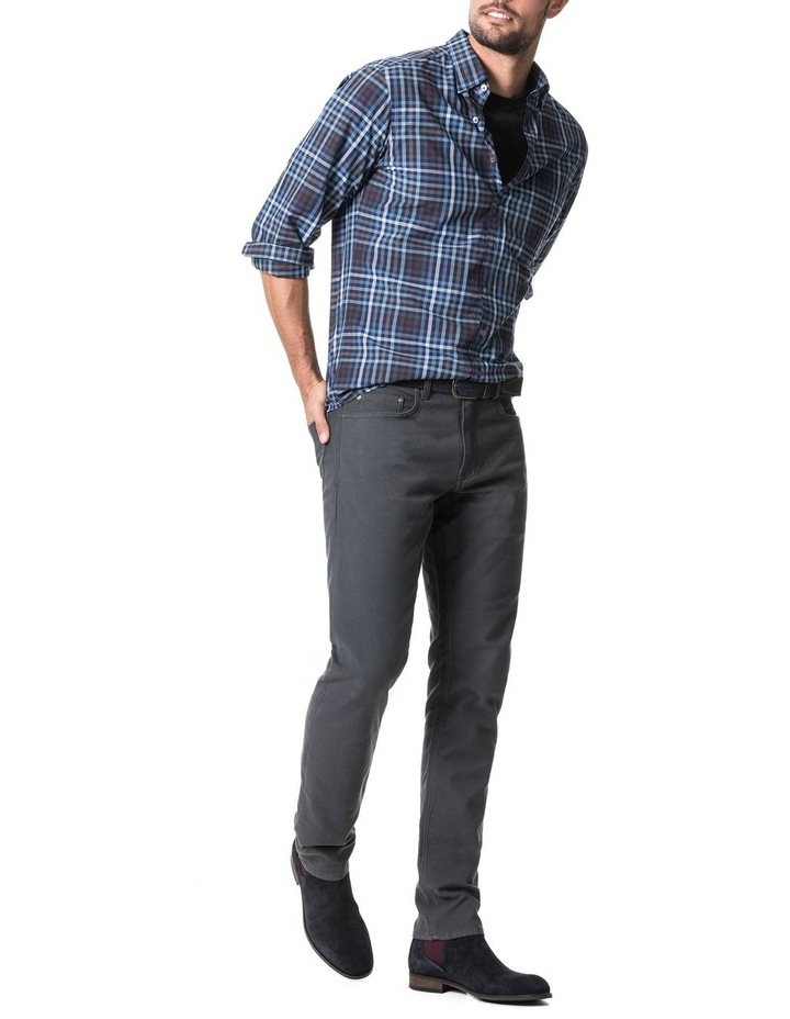 Cherokee Long Sleeve Sports Fit Shirt - Denim image 5