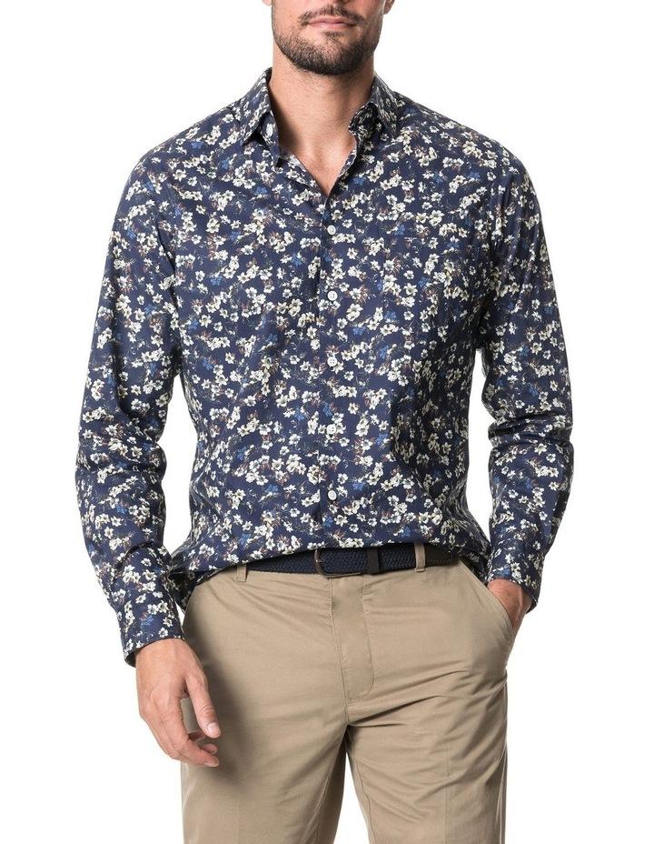 Rossmore Long Sleeve Sports Fit Shirt - Indigo image 1
