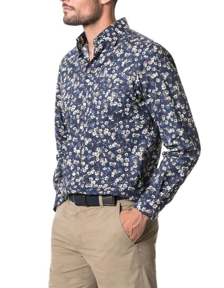 Rossmore Long Sleeve Sports Fit Shirt - Indigo image 2