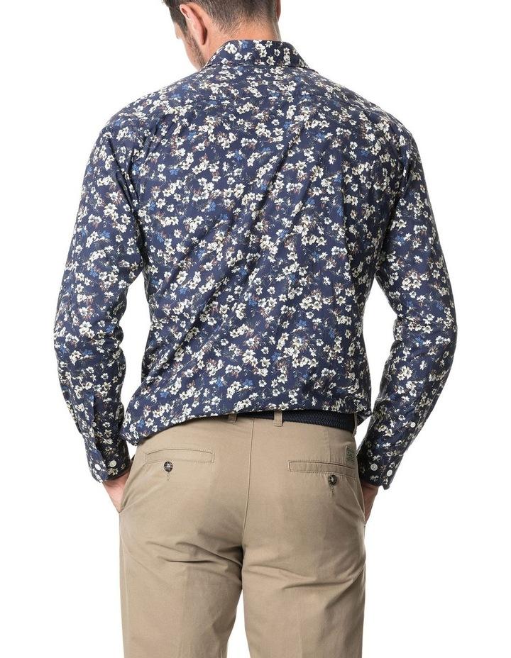 Rossmore Long Sleeve Sports Fit Shirt - Indigo image 3