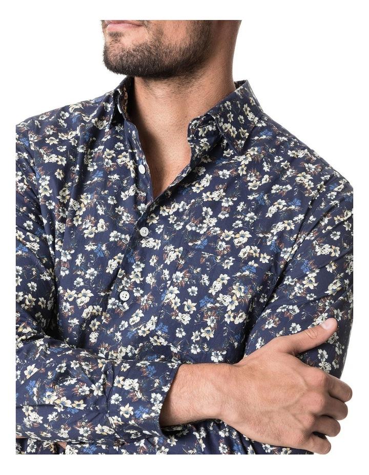 Rossmore Long Sleeve Sports Fit Shirt - Indigo image 4