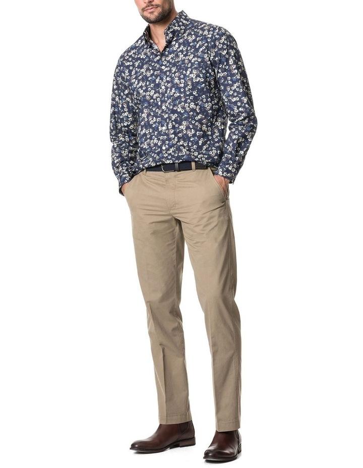 Rossmore Long Sleeve Sports Fit Shirt - Indigo image 5