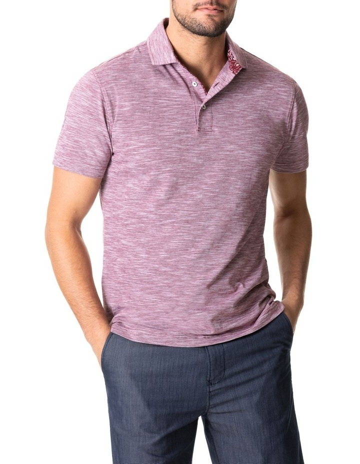 Ascot Park Sports Fit Polo Burgundy image 1