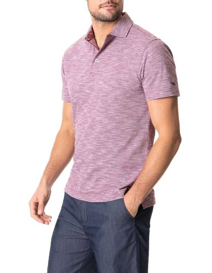 Ascot Park Sports Fit Polo Burgundy image 2